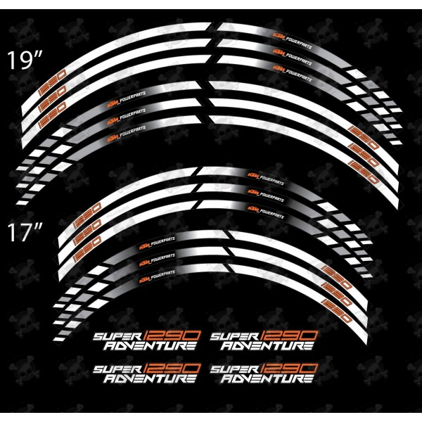 Ktm 1290 Super Adventure Wheel Stickers Decals Rim Stripes