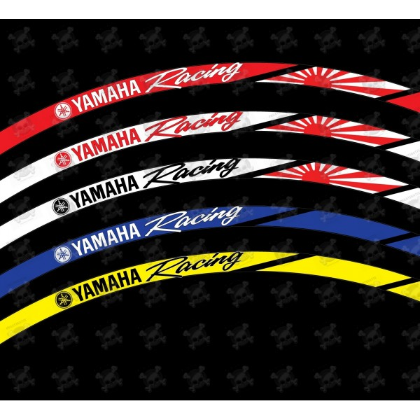 Yamaha Yzf R1 Oem Style Wheel Stickers Decals Rim Stripes