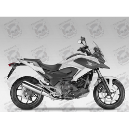 Sticker Honda Nc750x Year 2015 White Version
