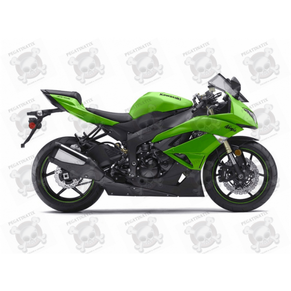 2009: STICKER SET KAWASAKI ZX-6R