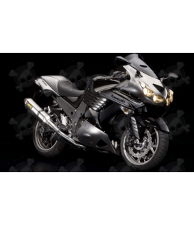 STICKERS KIT KAWASAKI ZZR1400 YEAR 2010 BLACK GREY