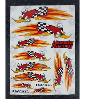 Stickers HONDA Racing Woody Woodpecker