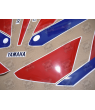 Stickers decals Yamaha FZR 1000 Year 1990 WHITE RED BLUE
