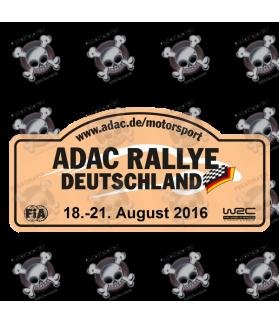 STICKER RALLY FIA WRC ALEMANIA 2016