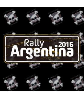 STICKER RALLY FIA WRC ARGENTINA 2016
