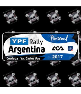 STICKER RALLY FIA WRC ARGENTINA 2017