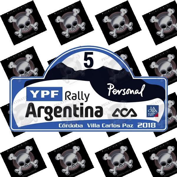 Aufkleber Rally Fia Wrc Argentina 2018