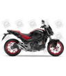 STICKER HONDA NC750S YEAR 2016 BLACK-RED