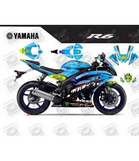 Stickers YAMAHA R6 SHARK VALENTINO 2008-2015