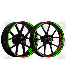 wheel stickers rims MONSTER