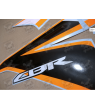 Stickers Honda CBR 125R 2011 SILVER-ORANGE