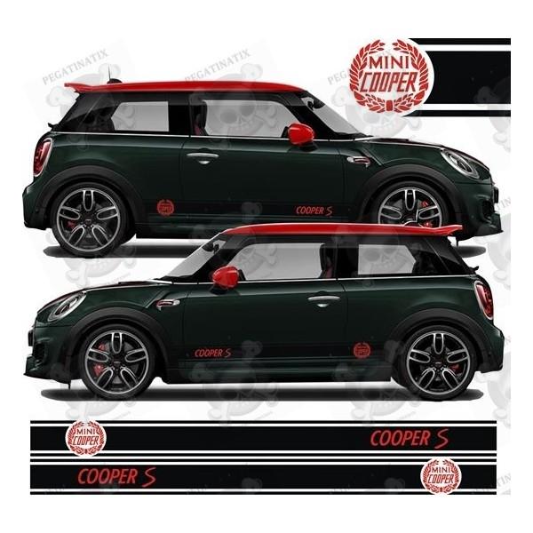 Aufkleber Seitenstreifen Mini Cooper S