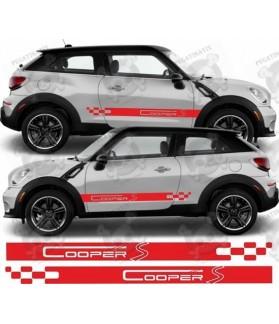 SIDE STRIPES STICKER DECALS Cooper S
