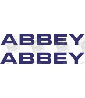 Adhesivo caravana ABBEY x2