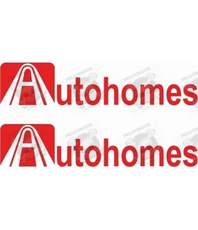 Stickers decals caravans AUTOHOME x2