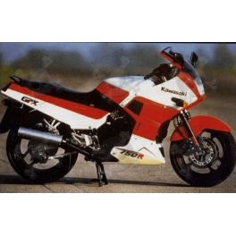 STICKERS KAWASAKI GPX-750R YEAR 1987 RED-WHITE