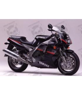 Stickers decals Yamaha FZR 1000 Year 1991 BLACK-GREY
