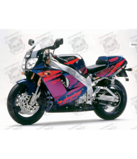 Stickers YAMAHA YZF-750R YEAR 1993 GREEN PURPLE ORANGE