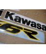 STICKER SET KAWASAKI ZX-6R YEAR 2002 YELLOW