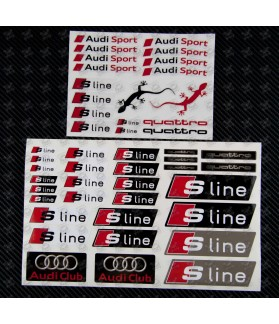 Stickers decals AUDI S-LINE