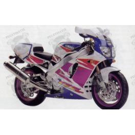 Stickers YAMAHA YZF-750SP YEAR 1994 WHITE PURPLE