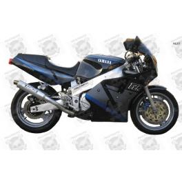 Stickers decals Yamaha FZR 1000 Year 1990 black/grey