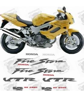 Honda VTR 1000F YEAR 1998 FIRESTORM STICKERS