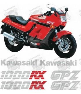 KAWASAKI GPZ 1000RX YEAR 1984-1988 STICKERS