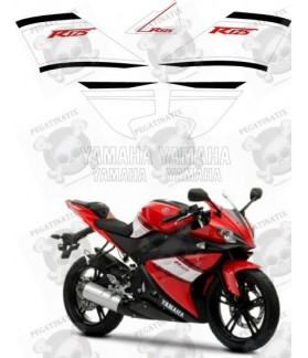 YAMAHA YZF 125R YEAR 2008 Red Stickers