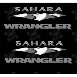 "JEEP ""Sahara Wrangler"" STICKER X2"