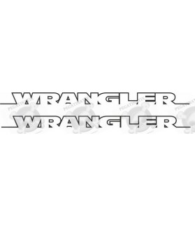"JEEP ""Wrangler"" side Bonnet STICKER X2"