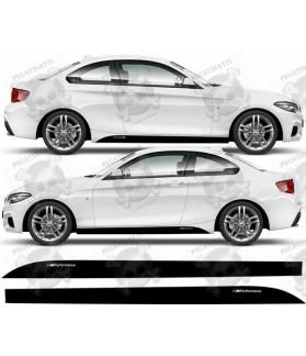 BMW 2 Series F22-F23 M sport Side Stripes Stickers