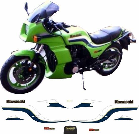 Kawasaki GPZ750 GPZ750R1 Panneau Latéral Autocollants