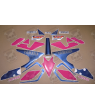 STICKERS YAMAHA YZF 750R YEAR 1993 WHITE/PINK/BLUE