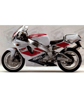 STICKERS YAMAHA YZF 750R YEAR 1993 WHITE/PINK/BLUE