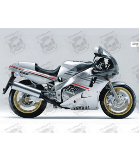 Yamaha FZR 1000 YEAR 1989 SILVER GREY STICKERS