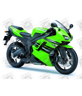STICKER SET KAWASAKI ZX-6R YEAR 2008 GREEN