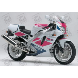 STICKERS YAMAHA YZF 750 SPECIAL EDITION YEAR 1993 WHITE PINK BLUE