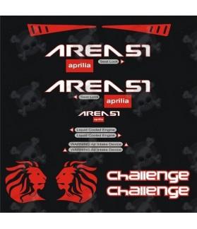 Stickers Aprilia Area 51 challenge