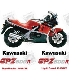 KAWASAKI GPZ 600R YEAR 1986 STICKERS