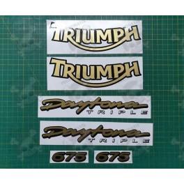 TRIUMPH Daytona 675 YEAR 2005-2006 STICKERS