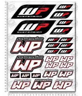 WP White Power Sponsors silver metallic Large Decal set 24x32 cm Laminated