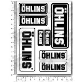 OHLINS small Decal set 12x16 cm 4 stickers Laminated