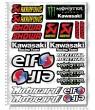 Kawasaki ZX-10R WSB Sponsors Large Decal set 24x32 cm 22 stickers Laminated