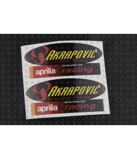 AKRAPOVIC aprilia exhaust decals stickers 2 pcs HEAT PROOF!
