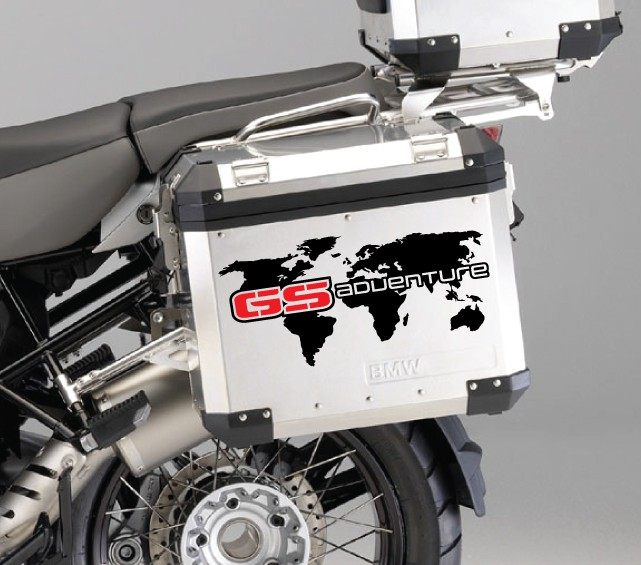 Bmw r1200 gs side panniers world map decal set pegatinatix gumiabroncs Image collections