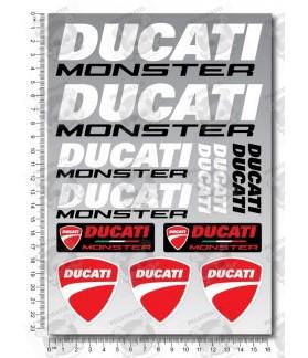 DUCATI MONSTER tank stickers 2 parts set Laminated 13 pcs