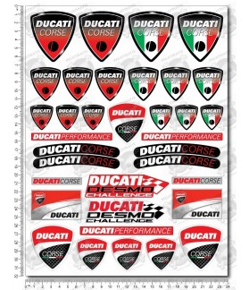 DUCATI Large Decal set 24x32 cm Laminated