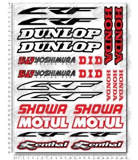 Honda CRF motocross Sponsors Large Decal set 24x32 cm Laminated