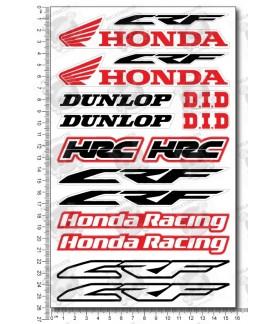 Honda CRF new logo motocross medium Decal set 16x26 cm Laminated